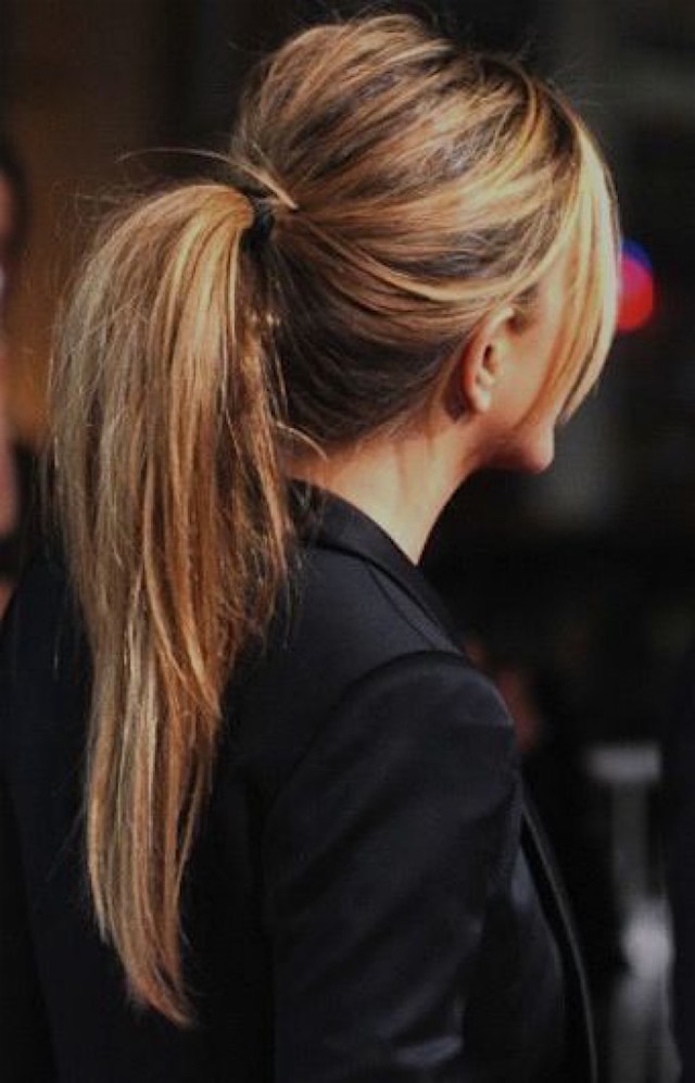 bumped-up ponytail