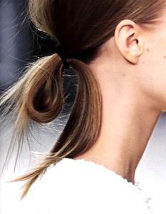 weekend hair: THE LOOPED PONYTAIL