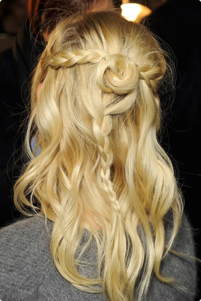 braid bun blonde
