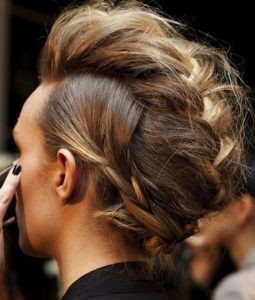 weekend hair: THE BRAIDED MOHAWK