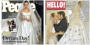 FIRST-LOOK:<br> angelina jolie&#8217;s wedding dress