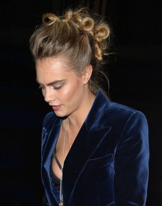 weekend hair: THE KNOTTED FAUXHAWK LIKE CARA DELEVINGNE'S
