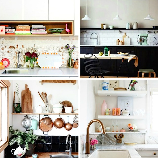home inspiration:<BR> 10 KITCHEN SHELVING IDEAS