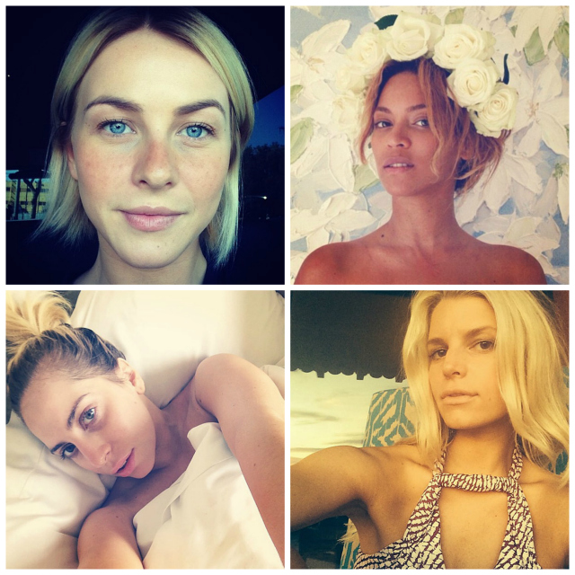 make-up free monday:<br> BARE-FACED CELEBRITY SELFIES