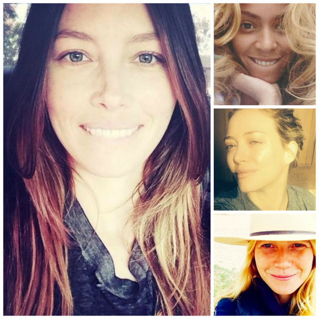 make-up free monday:<br /> BARE-FACED &#038; BEAUTY-FULL CELEBS