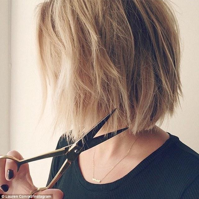 lauren conrad's bob cut