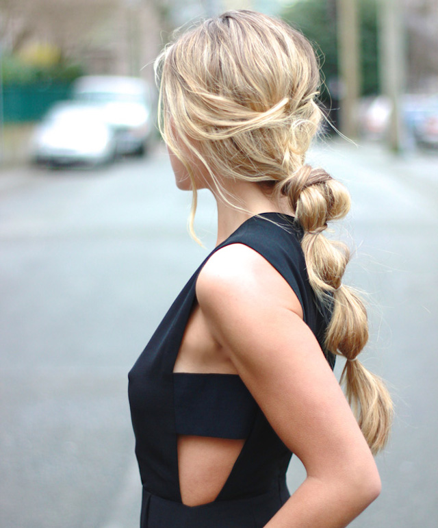 5-minute hair_the bubble ponytail