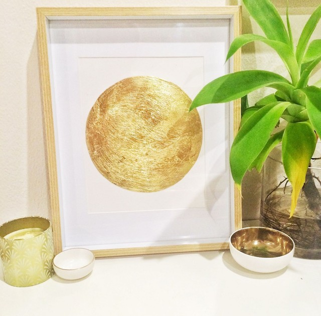 diy: gold leaf dot print