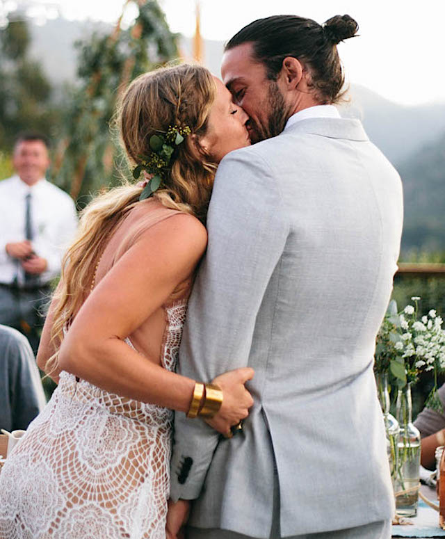 real brides: laura & jakes boho wedding