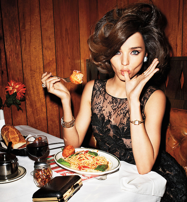 what's for dinner Miranda Kerr?