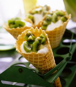 YOGURT KIWI CONES
