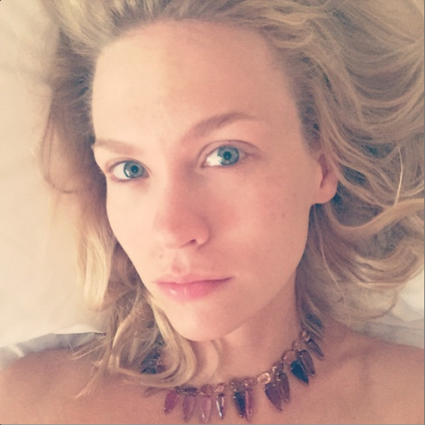 make-up free january jones