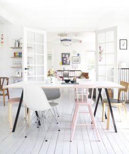 home inspiration:<BR> PASTEL FAMILY HOME IN DENMARK