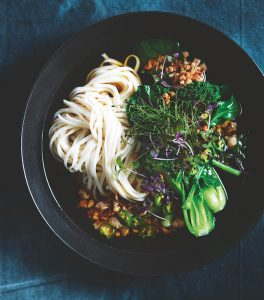 dinner recipe #1: DONNA HAY&#8217;S<BR> CHICKEN &#038; BROCCOLI MISO NOODLE SOUP