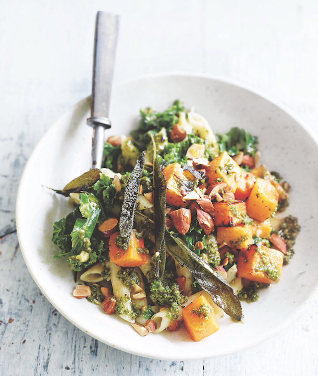 Kale, pumpkin and sage quinoa pasta copy