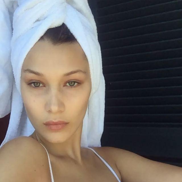 bella hadid makeup free