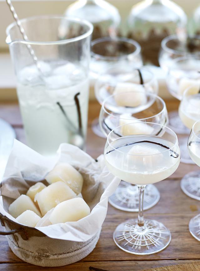 lychee and vanilla tequila martini