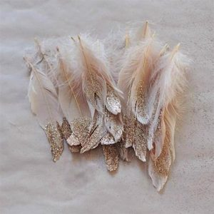 bride DIY: GLITTER FEATHERS
